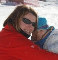 Me and my son on the slopes