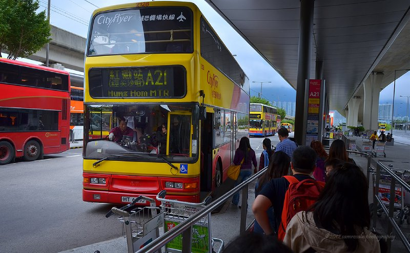Bus Route A21 from airport to TST and Hung Hom