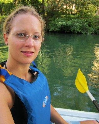 Kajak auf dem Canal de Saviere