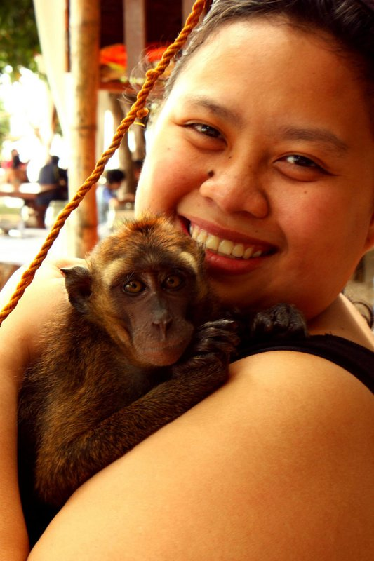 monkey and me :D