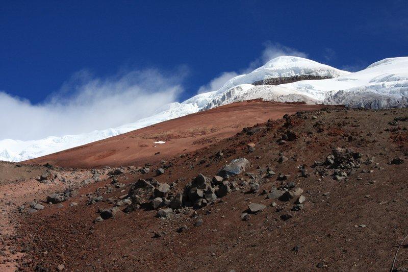 Ein Blick Richtung Gipfel