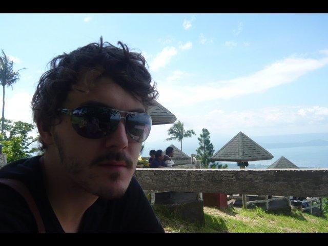 Adam at Lake Taal Picnic Area