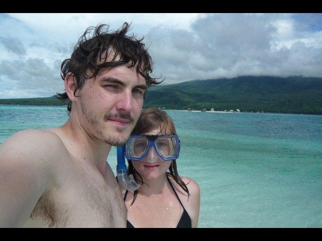 Laura & Adam enjoying the beach