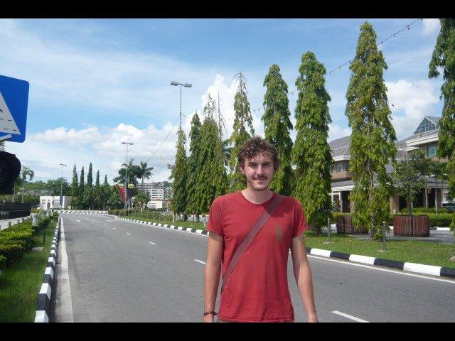 Adam on quiet BSB road