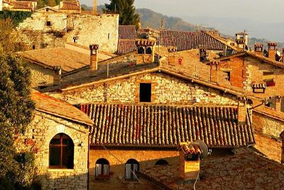 Golden roofs of Sant Andrea - Gubbio