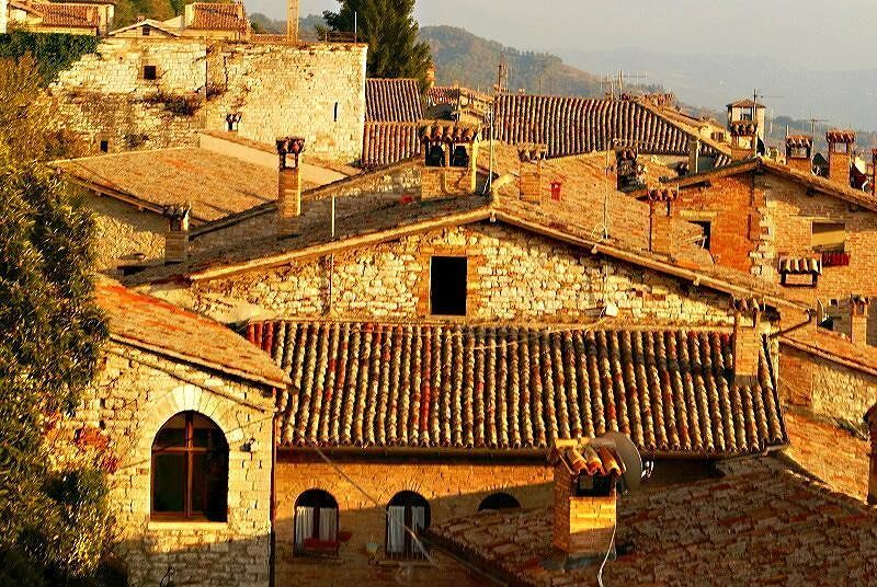 Golden roofs of Sant Andrea - Gubbio