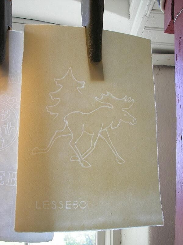 Beautiful hand made paper and watermark, Lessebo - Växjö