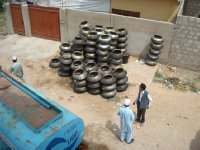 Cooking pots & water tanker
