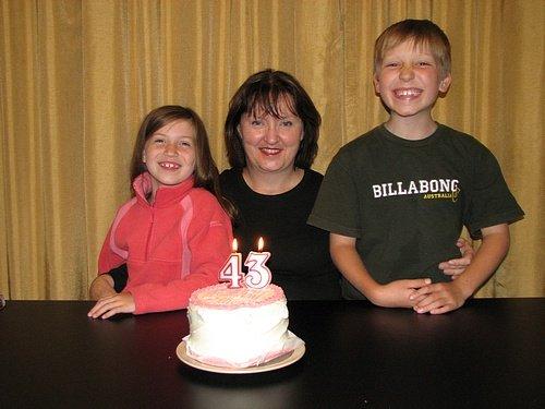 Celebrating Ellie's Birthday.