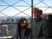At the top of the Empire State Building.
