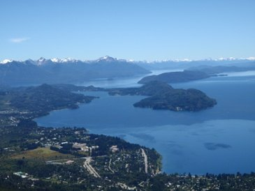 View from above Bariloche