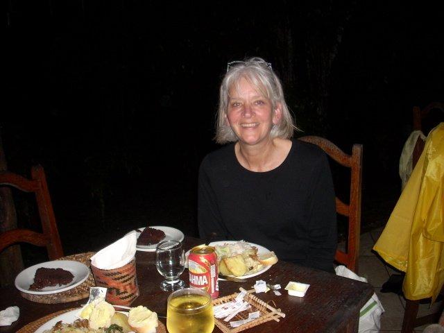 dinner in Amazon jungle