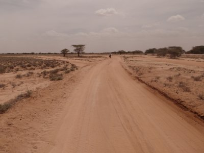 The hot sandy road