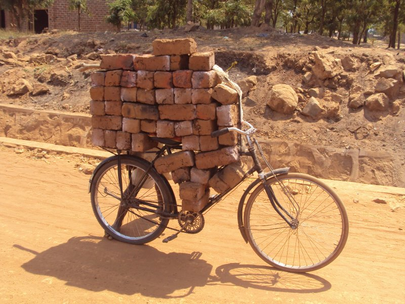 Bike with bricks