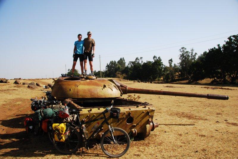 Russan tank... in ethiopia!