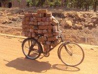 Bike with bricks
