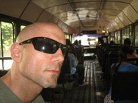 """Riding the local (""""chicken"""") bus in Guatemala City"""
