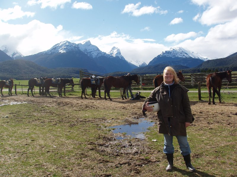 Riding horses in Glenorchy