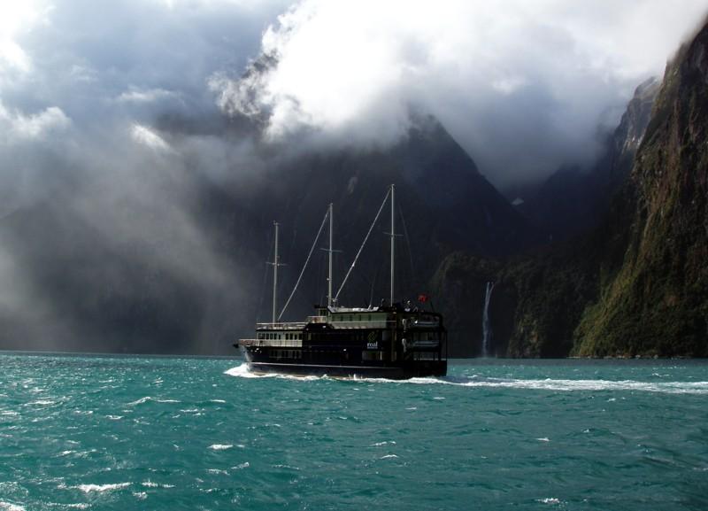 Cruising at Milford Sound