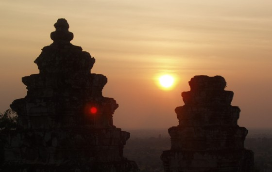 Sunset from the ruins