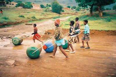"""""""Collecting water can be fun!""""  Photo Courtesy of hipporoller.org"""