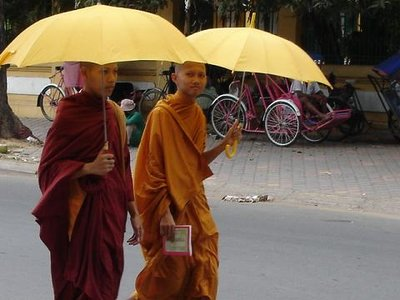 monks with umbrellas.JPG