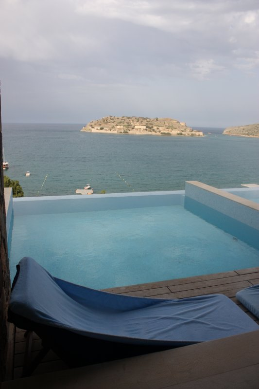 Private Pool at the Blue Palace, Crete