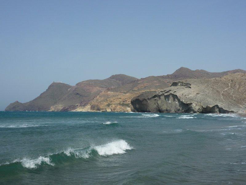 Cabo de Gata from the playa de Monsul