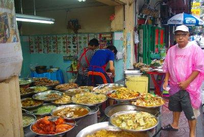 jidlo v China Townu, Bangkok