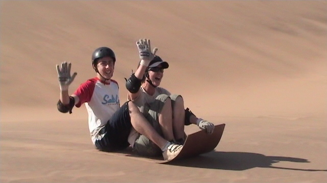 Anthony and I at the start of a big dune...it looks easy in the photo but it went downhill from there i promise!