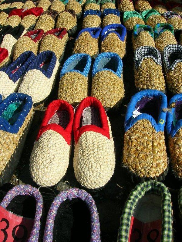 Shoes at a german market