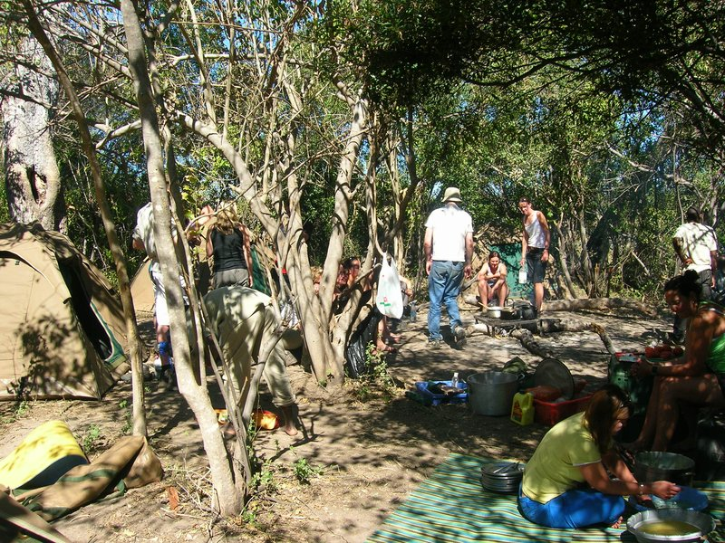 Roughing it - camping in the bush in Okavango Delta