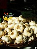 Garlic in a German market