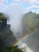 Rainbow over Victoria Falls (Zimbabwean side)