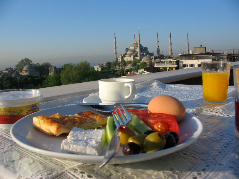 Breakfast in Istanbul before our trip to Bursa