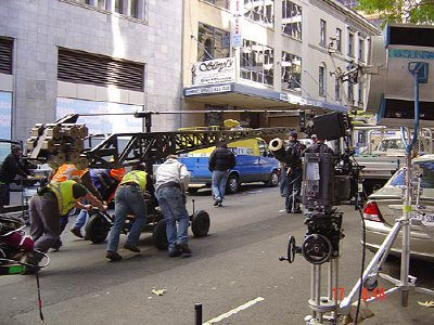 Superman Returns location camera crew