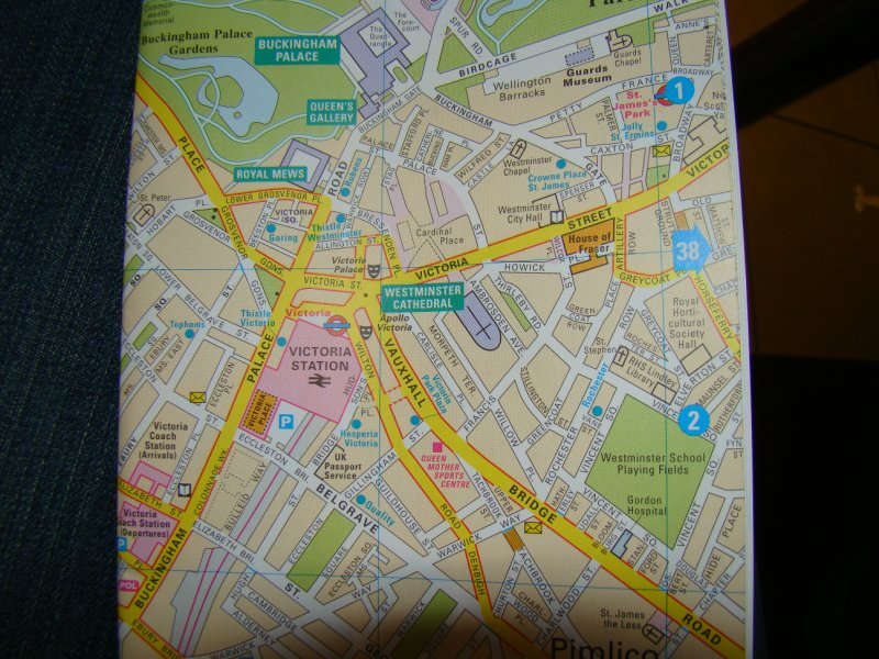 Map of Victoria Station area of London