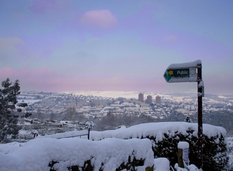 Sheffield in the snow