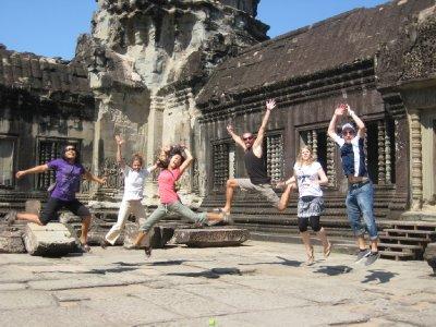 Well timed shot in Ankor Wat