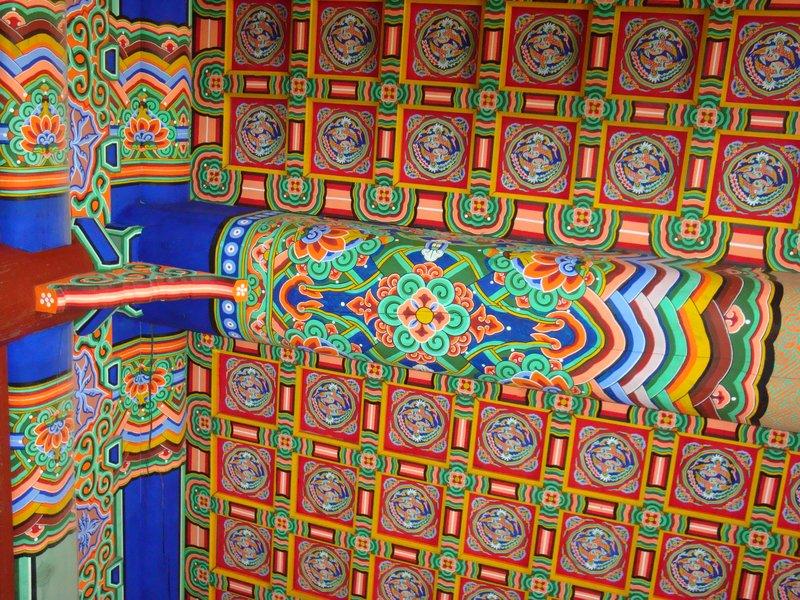 Elaborately Painted Ceiling, South Korea
