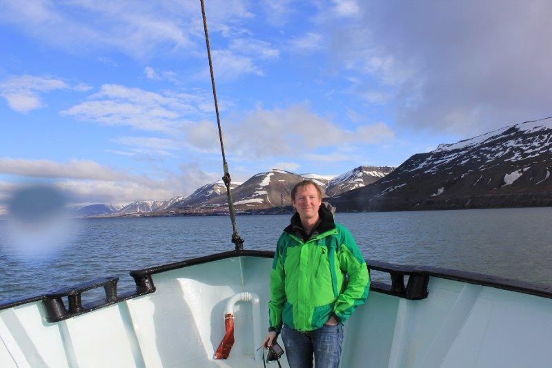 Me, in front of Longyearbyen