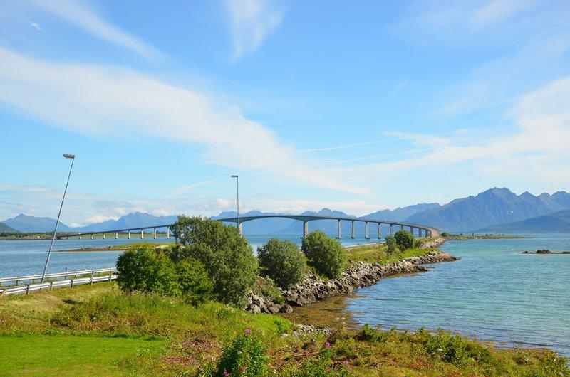 Hadselbrua - one of many beautiful bridges in Norway