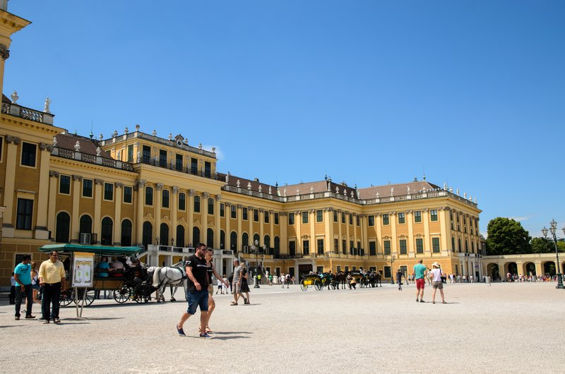 Schönbrunn Palace entrance court