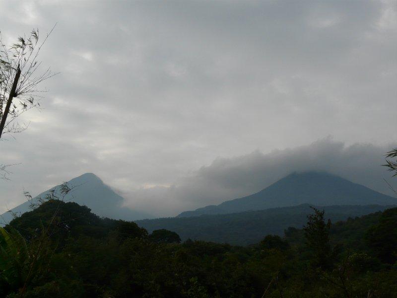 Mt. Muhavura (4127m) and Mt. Gahinga (3474m)
