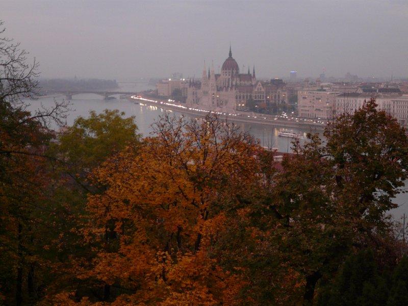 Parliament building in autumn