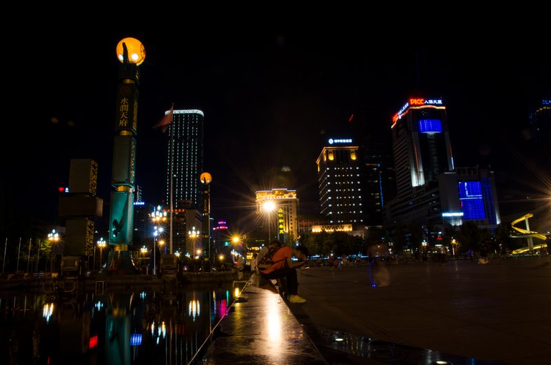 Tianfu square at night # 2