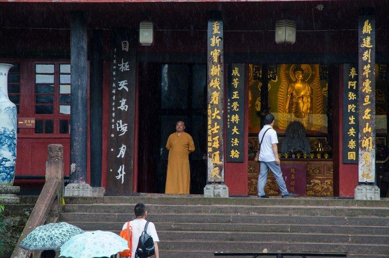 Monk, Wannian Temple
