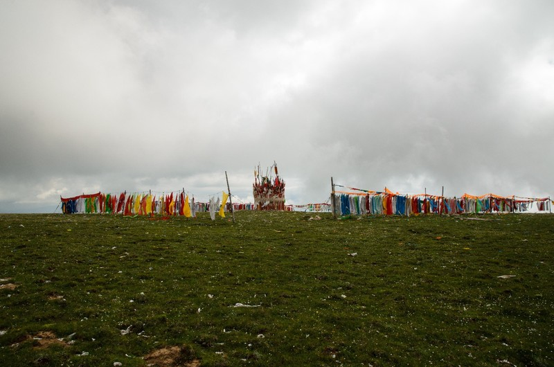 Tibetan flags, top of Huagai Mountain (4200m)