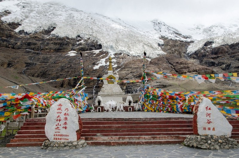 Stupa, Karola glacier
