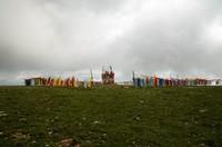 Tibetan flags, top of Huagai Mountain (4200m)